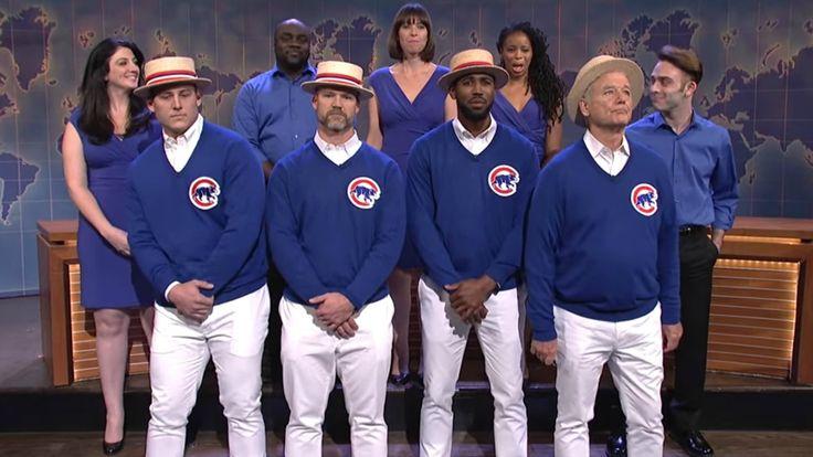 VIDEO - I Cubs conquistano pure il Saturday Night Live Poteva mancare un'esibizione televisiva dei #Cubs dopo il titolo vinto? Certo che no! Sulle note del tormentone di questo ottobre i Cubs invadono pure il Saturday Night Live. Ammirate la loro esibizione su #MLB Italia #WS2016