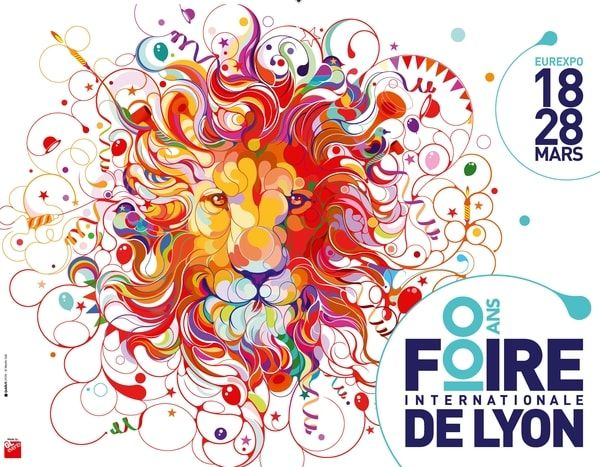 LYON - La Foire Internationale de Lyon souffle sa 100e bougie -  Du 18 au 28 mars 2016 - pin by @ChansLau