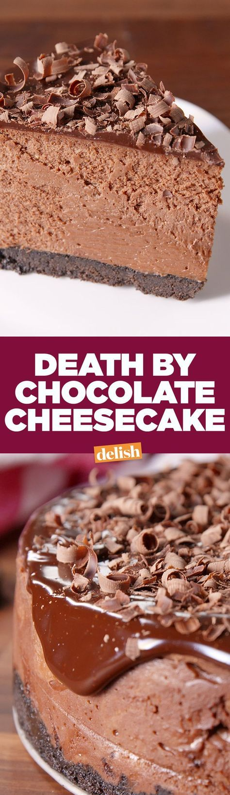 Death By Chocolate Cheesecake will be the star of every party. Get the recipe on http://Delish.com.