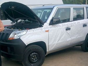 Mahindra TUV300 spied in production guise