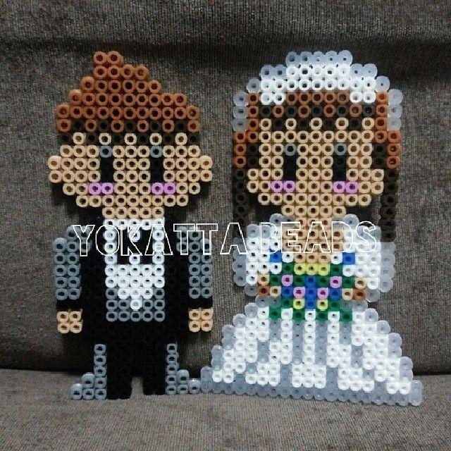 Married couple perler beads by yokattabeads