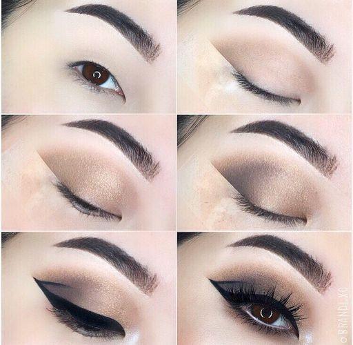 макияж на узкие глаза, макияж для азиаток, красивый макияж, стрелки, пошагово