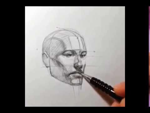 Cara Menggambar Kepala
