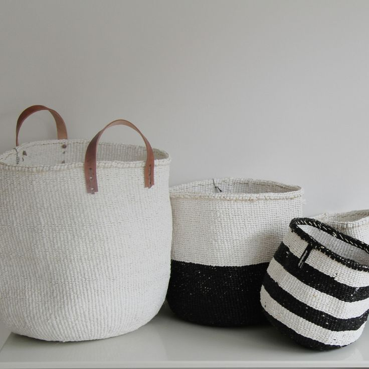 Mifuko Kiondo Block colour basket medium and large