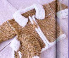 baby cap and jacket, crochet patterns | make handmade, crochet, craft...cute hat!!