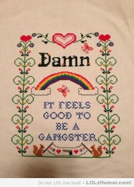 My Wife's Latest Cross Stitch Project is Complete! So True ...