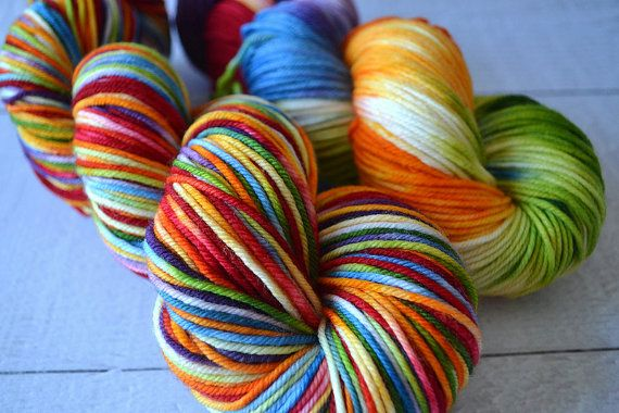 Hand Dyed yarn / Fingering Yarn / red orange by YarnLoftbyElysia, $23.00