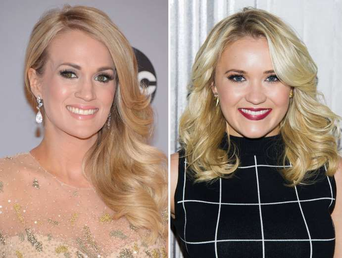 Carrie Underwood and Emily Osment - Evan Agostini/Invision/AP; Charles Sykes/Invision/AP