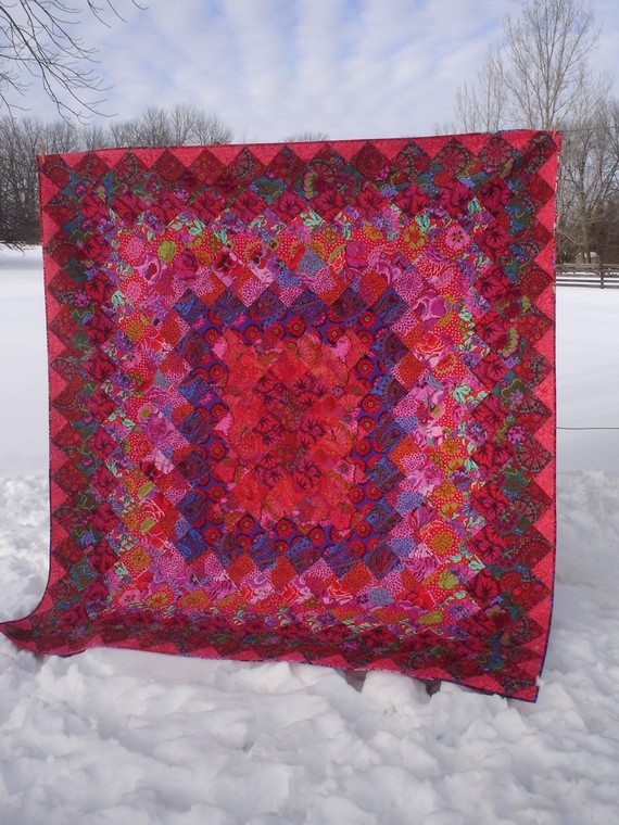 Red HOT Kaffe Fassett Quilt - Ooh La La