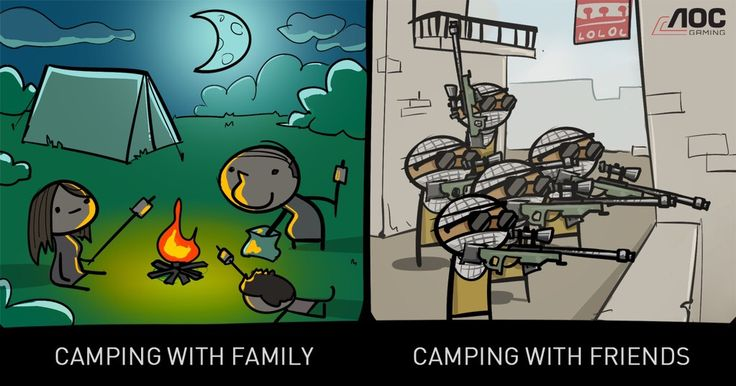Family vs Friends - Camping