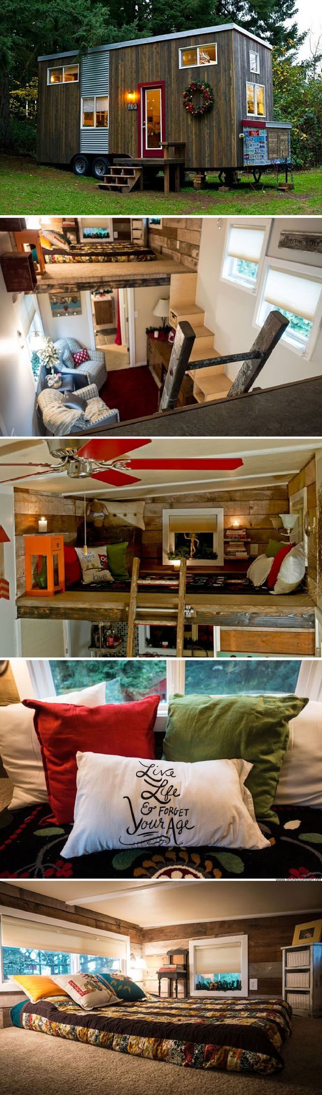 A 144 sq ft DIY tiny house in Oregon