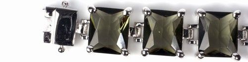 Silver Bracelet w/ CZ - Smokey Topaz CZ