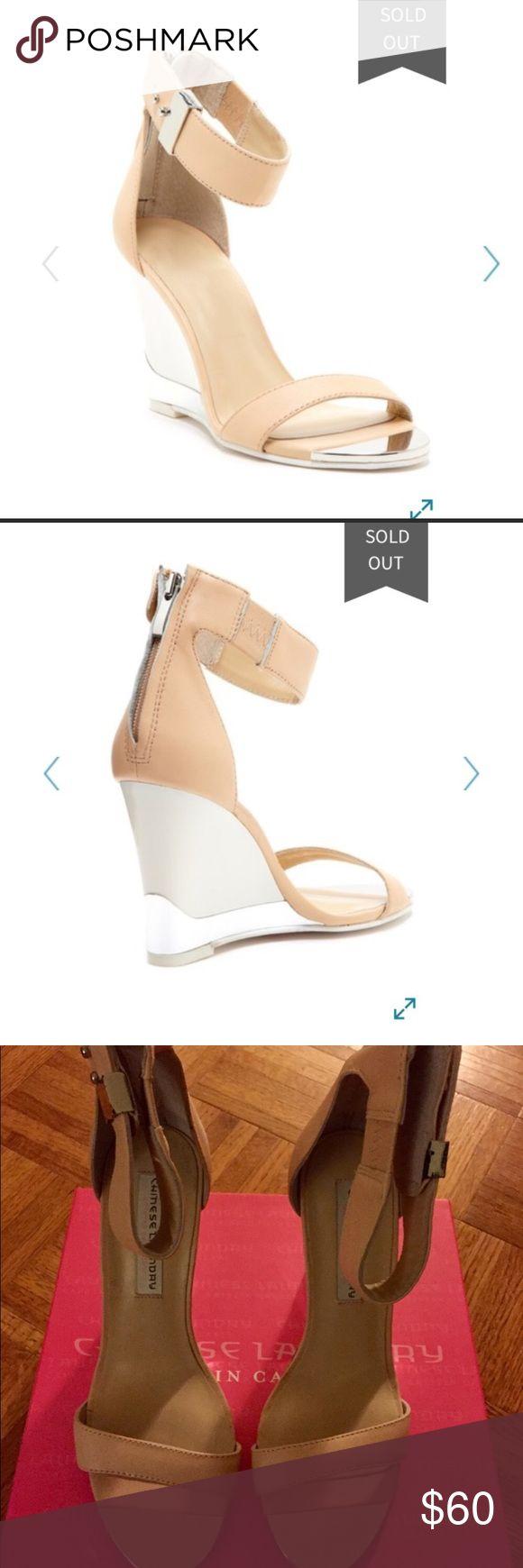 NWB Kristin Cavallari Nude Wedge Sandals Brand new - Chinese Laundry Kristin Cavallari sandals. Run 1/2 size small Chinese Laundry Shoes Sandals
