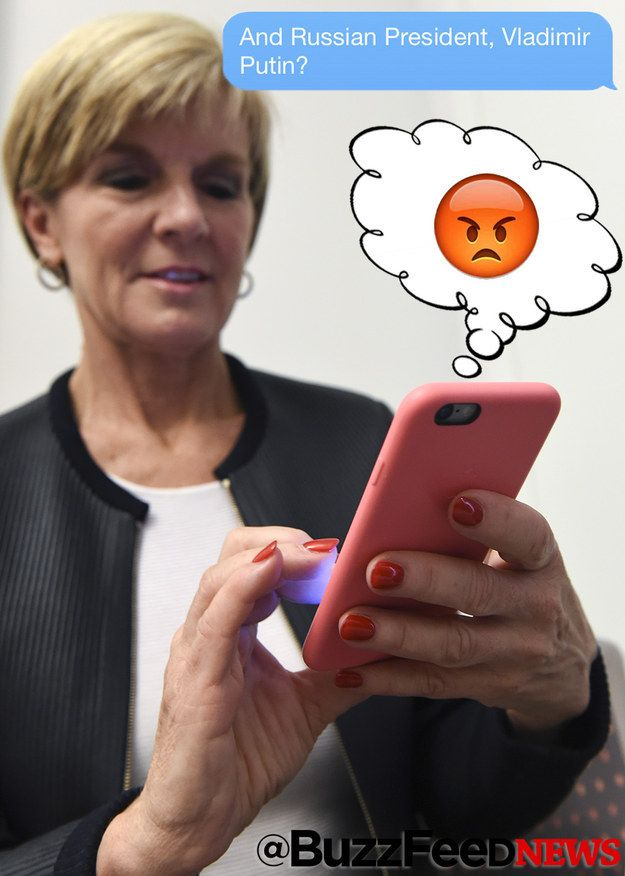 Julie Bishop Describes Serious Diplomatic Relationships With Emoji | MusikIsYourLife