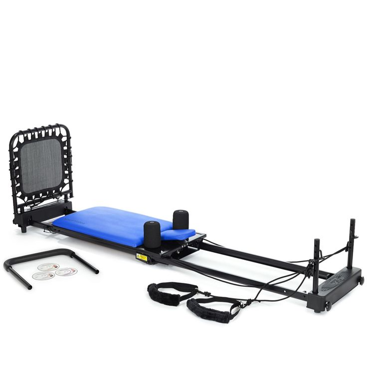 400644 - AeroPilates 435 4 Corded Reformer with Cardio Rebounder - QVC Price: £440.50  Introductory Price: £399.84 + P&P: £11.95 or 3 Easy Pays  An innovative machine that folds flat for easy storage, the AeroPilates 435 reformer features the Cardio Rebounder - a vertical trampoline to provide a great cardiovascular workout without putting pressure on your joints - and also allows you to perform traditional Pilates exercises to help strengthen muscles, improve posture, flexibility and…