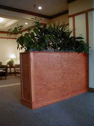 Planter box room dividers custom furniture by turn of for Cubicle planter box