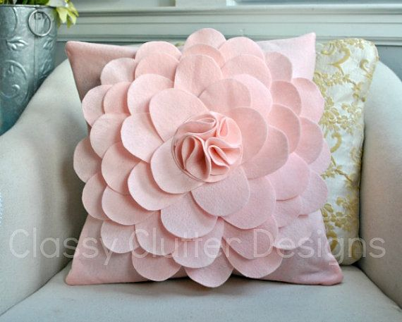 This would be so cute in a little girl's room or nursery!! #baby #nursery #pinkpillow