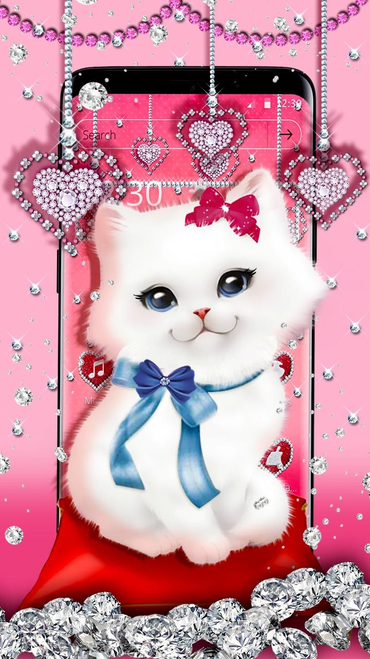 Hello Kitty Cute Kitty Blue Bow Or The Red Bow The Diamond Hearts Background Ads Luxur Pink Wallpaper Iphone Cute Disney Wallpaper Baby Pink Wallpaper Iphone