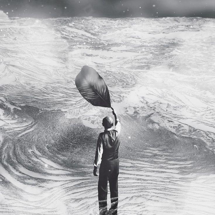 - man rises the wind