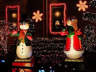 Ambiance de Noël à New York - decorations Dyker Heights