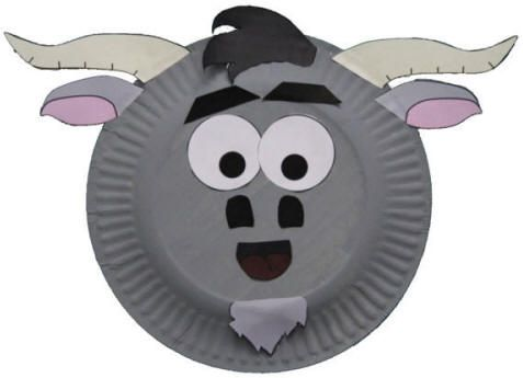 Goat craft with a paper plate to make with children for Chinese New Year 2015