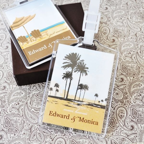 Love the idea to make personalise luggage tags as our save the date's (or for with the invites)