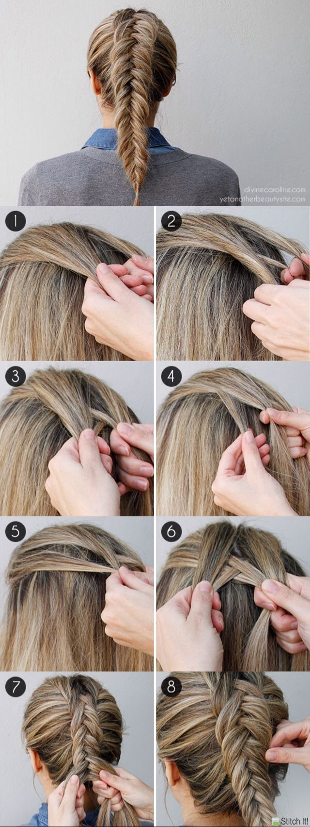 Inverted Dutch Fishtail Braid  https://fr.pinterest.com/disavoie11/