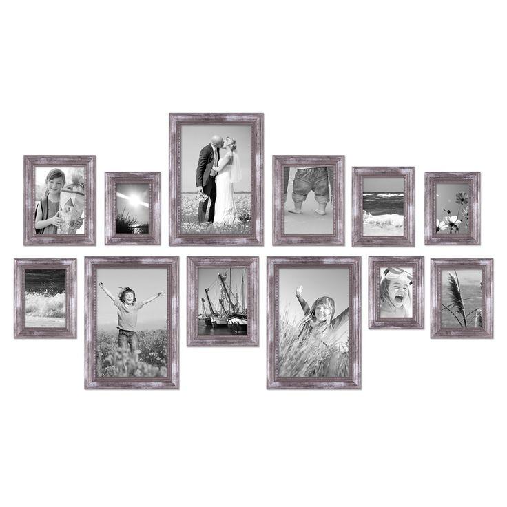 12er-Set Bilderrahmen Silber Barock Antik, 10x15, 13x18, 15x20 und 20x30 cm, inkl. Zubehör, Fotorahmen / Barock-Rahmen – Bild 6