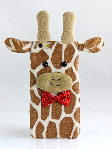 "iPhone 6 (4.7"") & iPhone 6S (4.7"") Case TISHAA Cool Plush Toy Doll Cover Protective Case (Cute Stuffed Giraffe)"