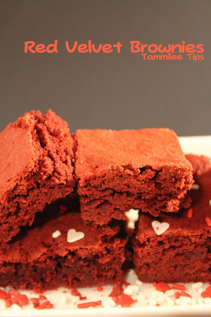 Red Velvet Brownies From Cake Mix