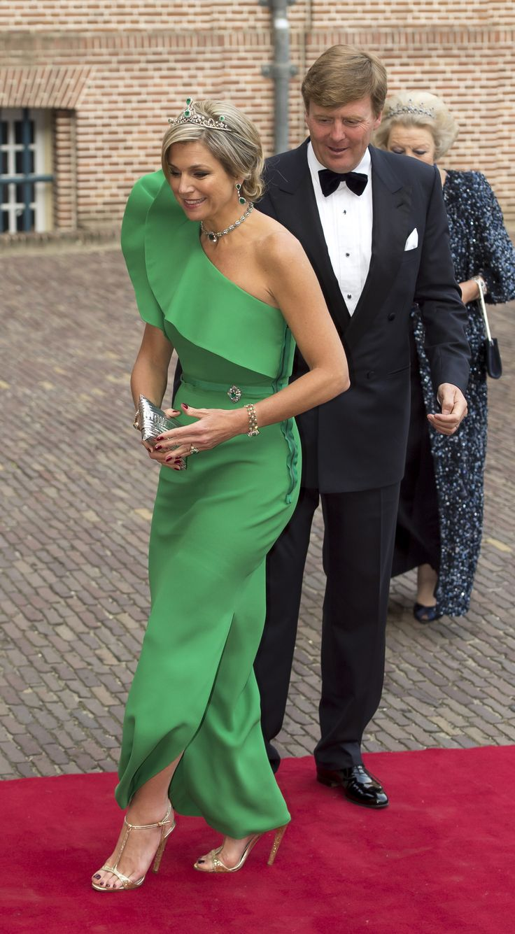 Máxima arriving one year ago at the Het Loo Palace in Apeldoorn, the Netherlands.
