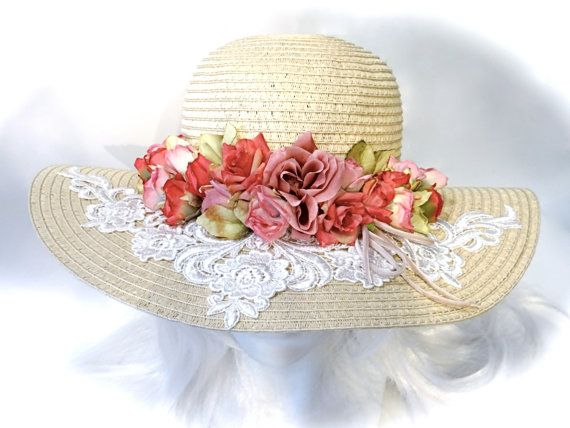 Victorian Derby Hat Dusty Rose Mother of the Bride Tea Party Hats BH-107