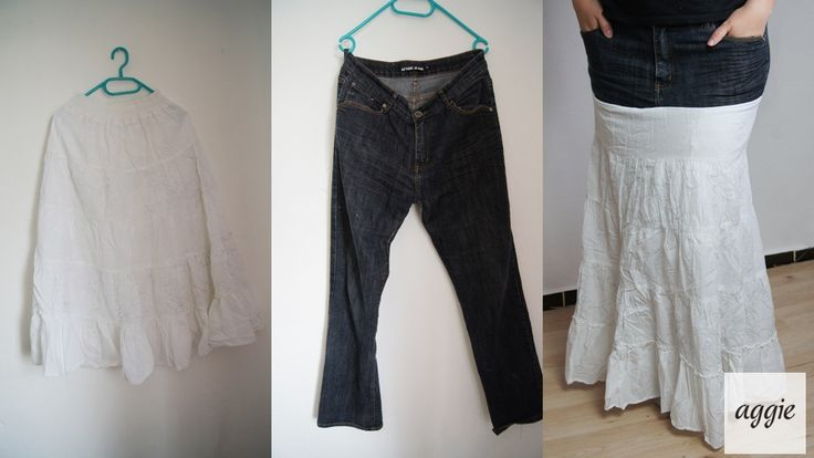 clothes skirt DIY project