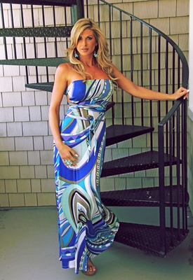 #colorsofsummer a fab printed maxi dress is a must have summer item I love this one by Alexis Bellino from the RHOC