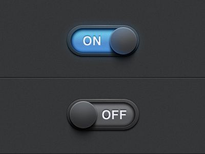 On/Off Settings Switch by James Cipriano.  The blue glow is amazing.