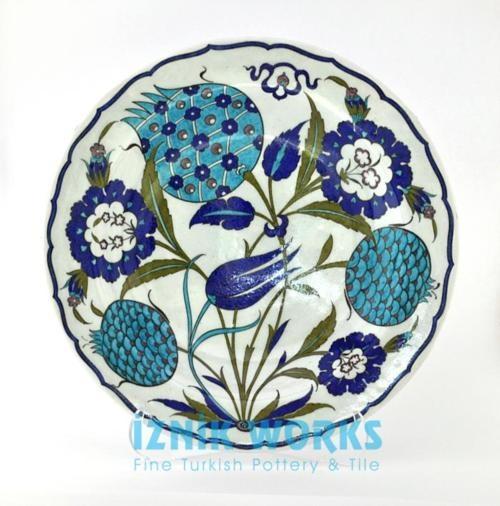 // Ceramic handpainted plate by Iznik Works