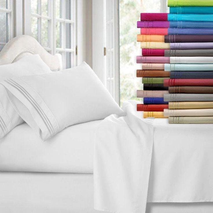Superior Comfort 1800 Count 4 Piece Deep Pocket Bed Sheet Set | Home & Garden, Bedding, Sheets & Pillowcases | eBay!