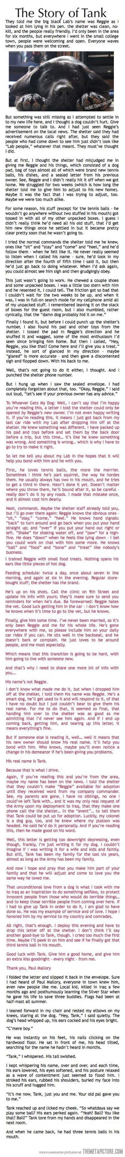 This is definitely a must read…if you don't mind sobbing all over your keyboard.