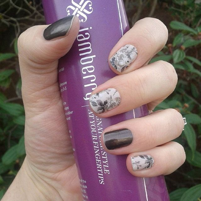 Timeless and Tungsten #Jamberry #Fall #Winter #2015 #Style #Nails #Wraps #DIY…