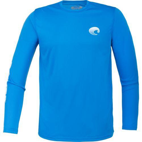 Costa Del Mar Men's Techcrew Long Sleeve Shirt (Blue, Size Medium) - Men's Outdoor Apparel, Men's Outdoor Graphic Tees at Academy Sports