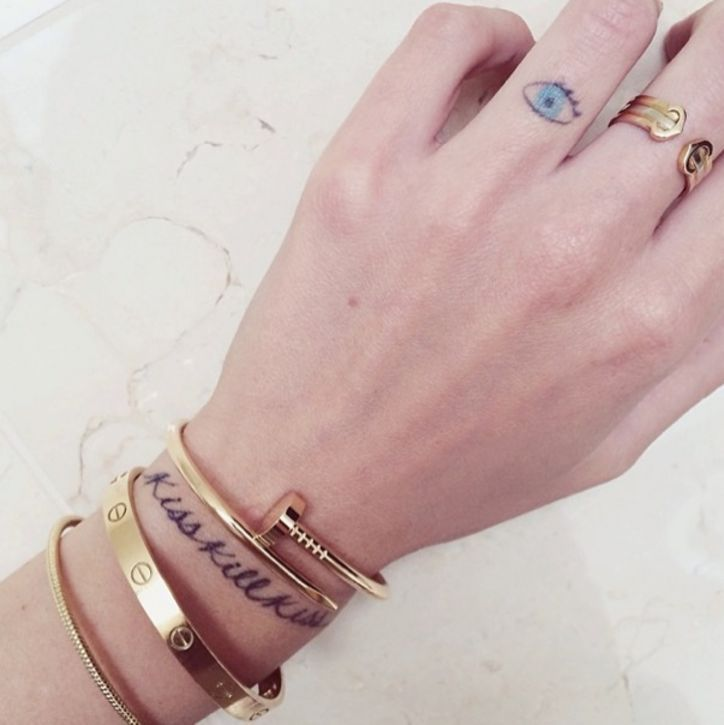 Chiara Ferragni The Blonde Salad Tattoo evil eye