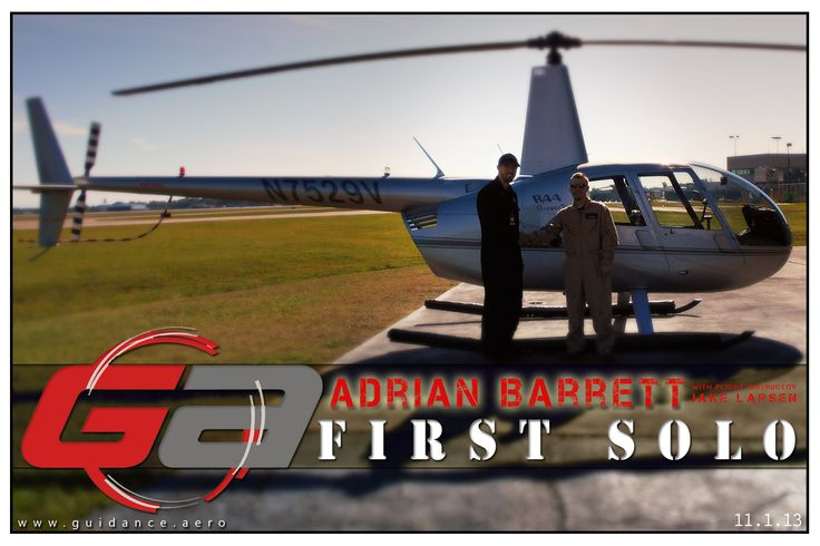 Helicopter Solo ! www.guidance.aero #helicopters #pilot #school