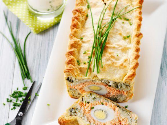 Pastete mit Lachs, Reis und Eiern ist ein Rezept mit frischen Zutaten aus der Kategorie Pastete. Probieren Sie dieses und weitere Rezepte von EAT SMARTER!