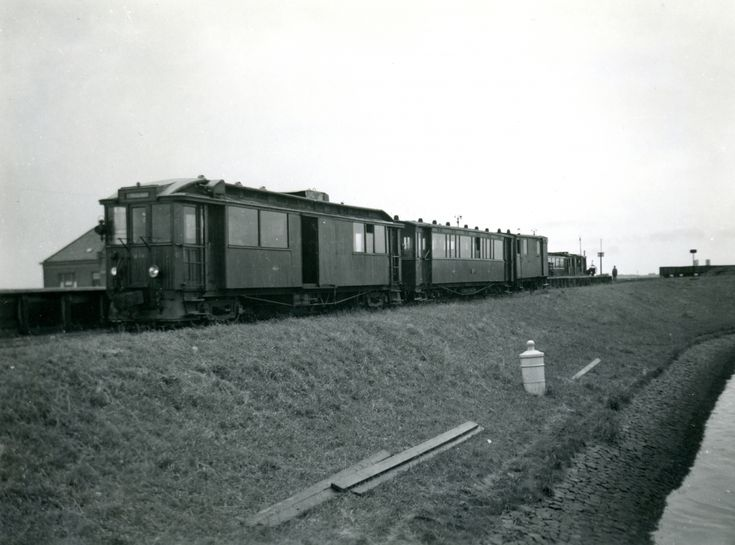 RTM motortram M74, Middelharnis haven, 8-7-1951