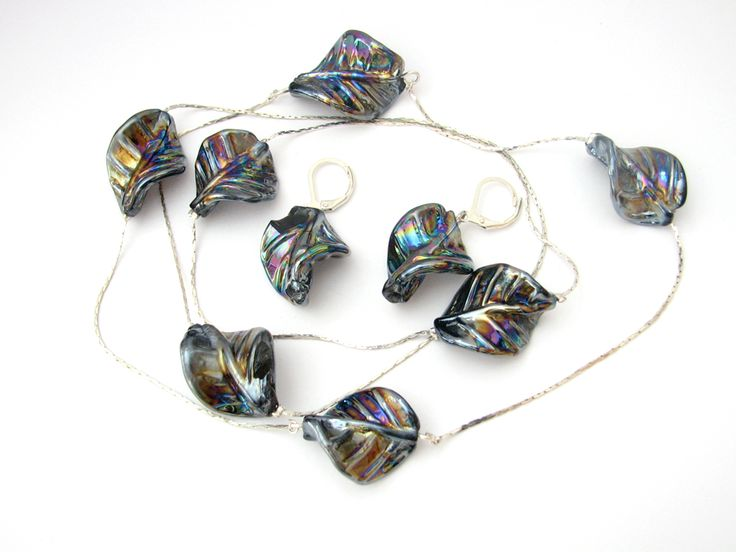 Set margele lampwork rasucite (39 LEI la daisy.jewelry.breslo.ro)