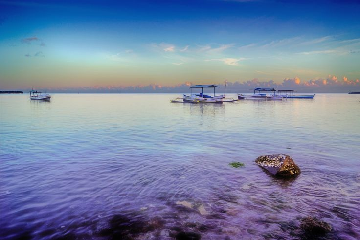 calm  waters in the morning - take a walk in the morning at Selayar island...