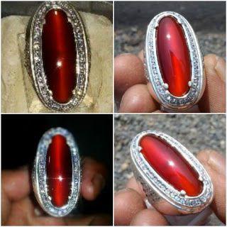Chalcedony Red Raflesia Cat Eye Origin Bengkulu Indonesia