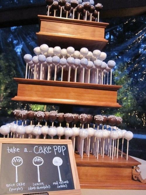 Cute Idea for a Party-> Cake Pop Cake