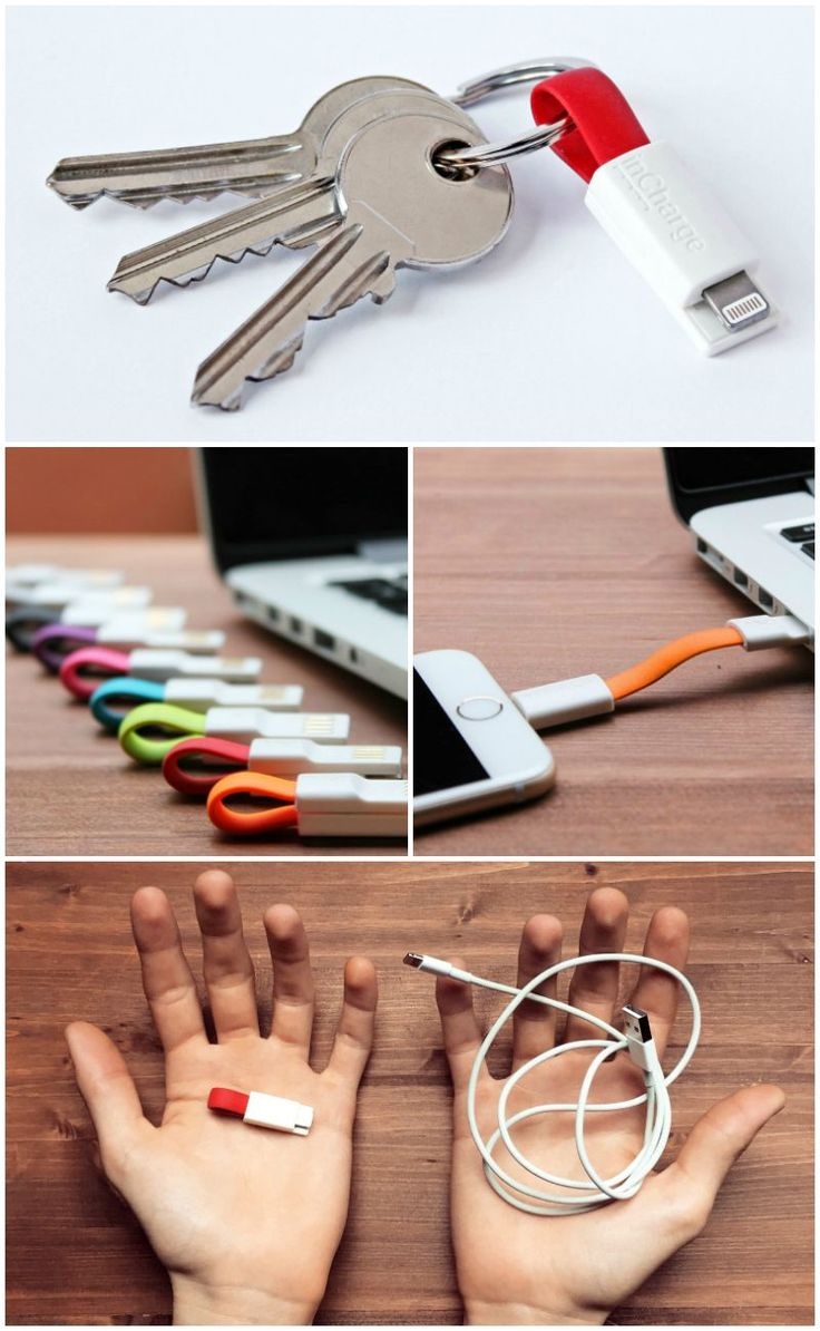 The inCharge is the perfect size to carry on your keychain or keyring. You can take it anywhere and always be ready to charge your phone.
