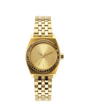 Hodinky Nixon Small Time Teller all gold crystal
